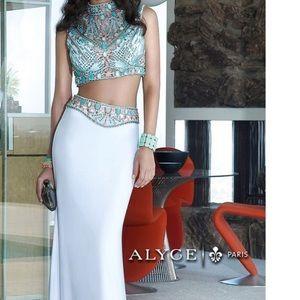 White Alyce Paris prom dress
