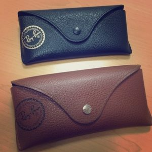 2 great condition ray ban sunglasses cases