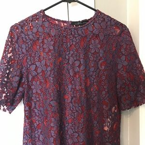 Purple & Red lace top