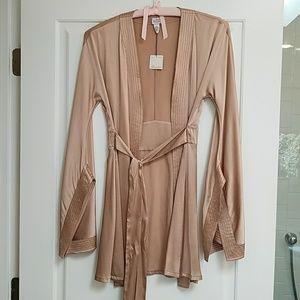 Diane Von Furstenberg SILK bath robe