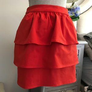 H&M adorable red skirt size 38 (8)