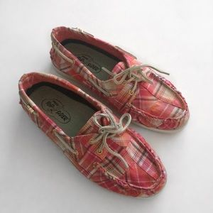 Sperry Top-Sider Pink Plaid Boat Shoe