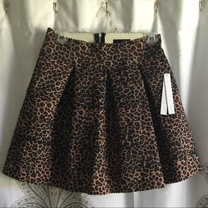 NWT leopard print skirt