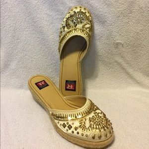 Sparkly and Fun Wedge Sandals