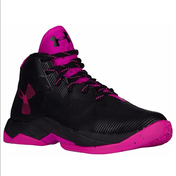 under armour basketball shoes pink off