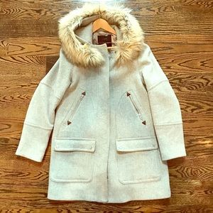 J.Crew Chateau Parka in Grey. Size 10.