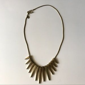 Aztec Gold Statement Necklace