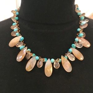 One of a Kind Natural Gemstone Statement Necklace