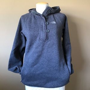 The North Face hooded half zip pullover