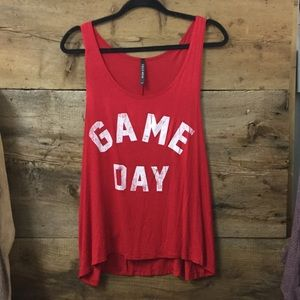 Game Day Graphic Tank Patriots Fan Super Bowl Top