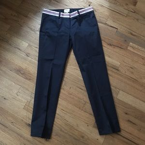 Milly cropped pants size 4 with waistband details