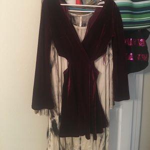 Martin velvet Toni dress with cut outs