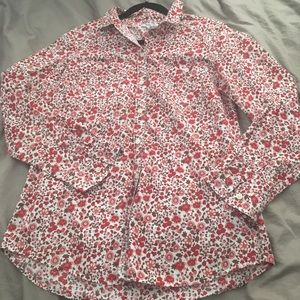 Old Navy Floral Button Down Top Size Medium