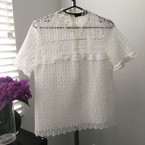 🔥 Zara white lace top