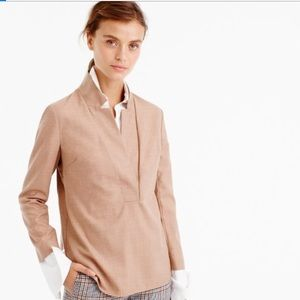 Jcrew popover shirt in super 120s