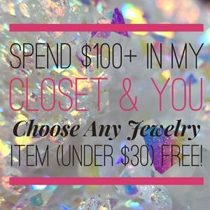 Other - Omg!🛍️Spend $100+ & Pick a Jewelry Item FREE!🛍️