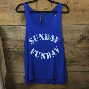 Sunday Funday Tank Patriots Fan Super Bowl Top