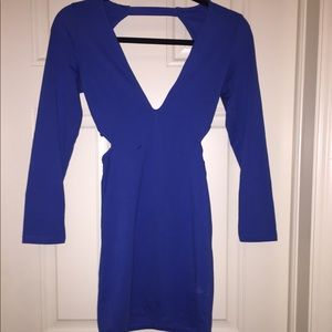 Nasty Gal Electric blue bodycon dress