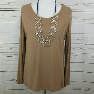 Metaphor long sleeve scoop neck versitile Blouse
