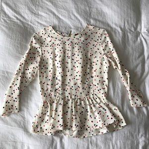 H&M polka dot blouse
