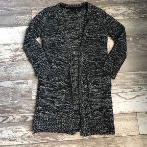 Gray/black marled cardigan