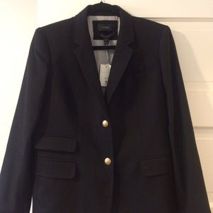 Jcrew new with tags black schoolboy blazer