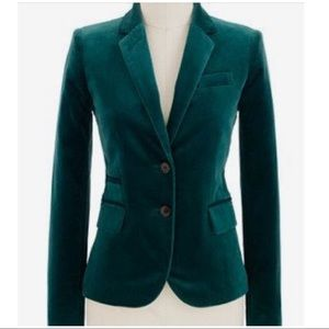 J.Crew schoolboy women's velvet blazer