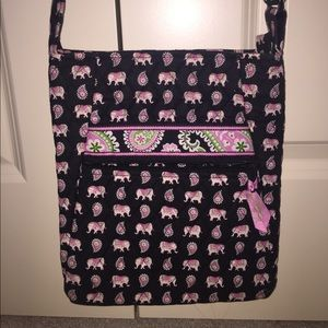 Vera Bradley Pink Elephant Crossbody Bag