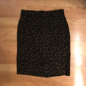 Nicole miller leopard pencil skirt