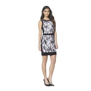 Mossimo Women's Banded Waist Dress - Black Print