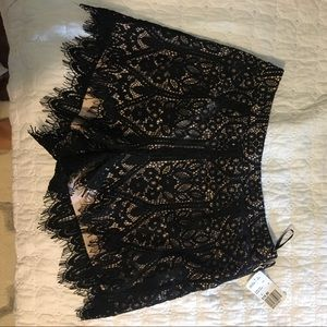 Never worn, forever 21 black lace shorts