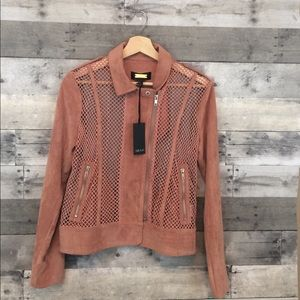 NWT Greylin Pink Netted Moro Jacket -Anthropologie