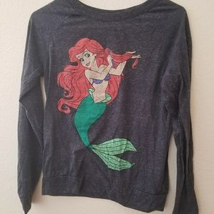 Little Mermaid Graphic Long Sleeve Shirt