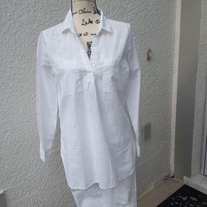 Old Navy crisp white linen tunic, EUC