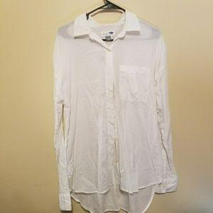 Old Navy white boyfriend fit blouse