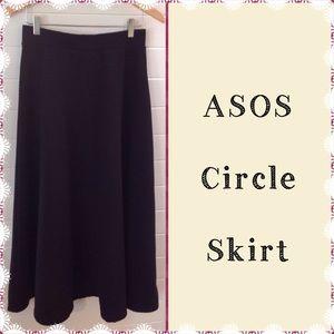 ASOS High Waisted Full Circle Skirt