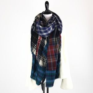 NWT Zara Multicolor Plaid Scarf