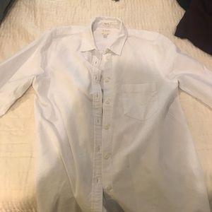 J. Crew Perfect Fit, white Shirt M