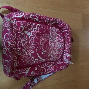Vera Bradley Pink laptop sleeve Backpack! !!