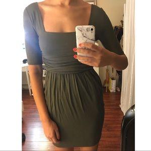 Olive green Caged back dress - Size S/M