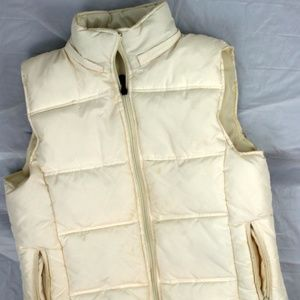 Maurices sz L Womens Off White Puffer Vest