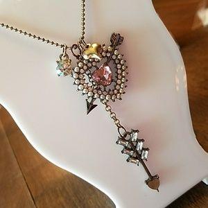 Rare heart and arrow Betsey Johnson necklace