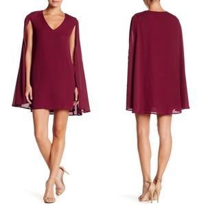 Romeo & Juliet Couture Cape V Neck Dress