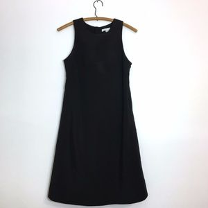 Vince Silk Button Back Dress in Black