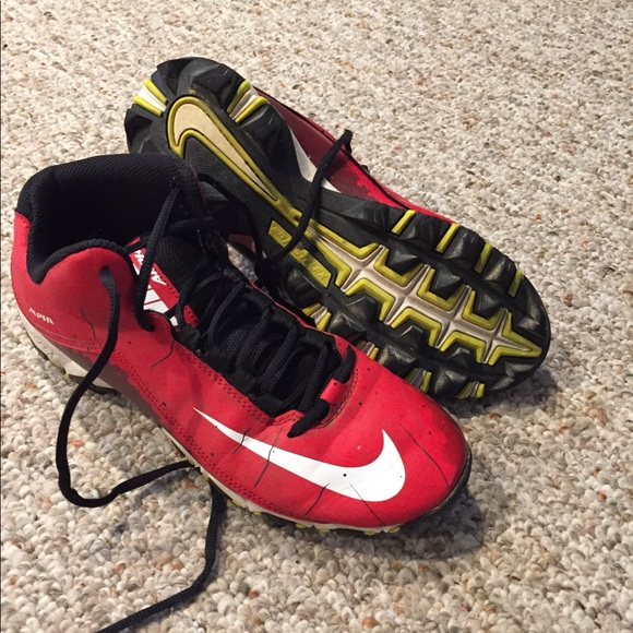 nike cycling shoes all red baseball cleats