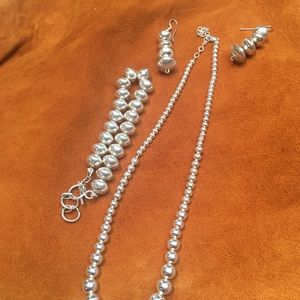 Sterling silver set Tiffany style