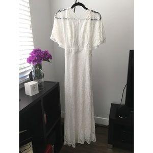 Elegant lace detail white gown