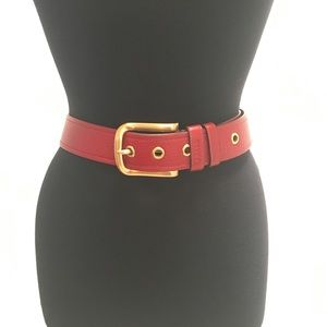 Prada Daino Belt 🌟excellent🌟 Deep Red 75/30