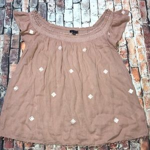 American Eagle outfitters Peach Blouse size M