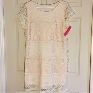 Cream Lace Shift Dress - NEW